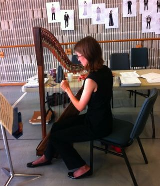 Genevieve Lang + harp