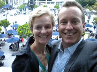 David Walker  & Anna Cerneaz in LA